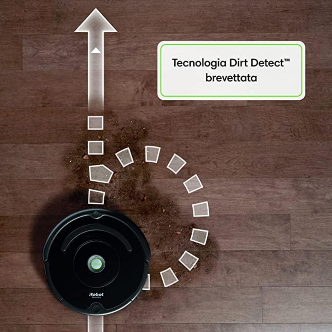 La tecnologia Dirt Detect del'iRobot Roomba 671